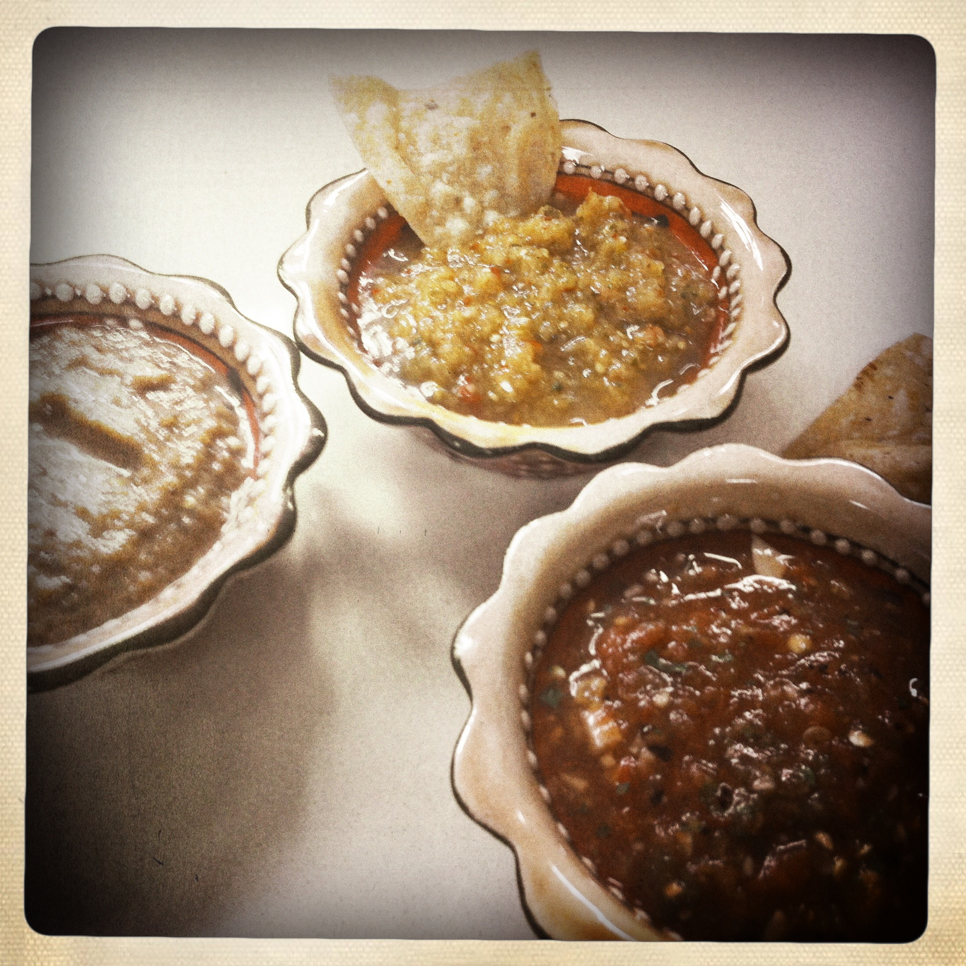 Chipotle caramelized onion salsa, tomatillo arbol salsa, pan-roasted ...