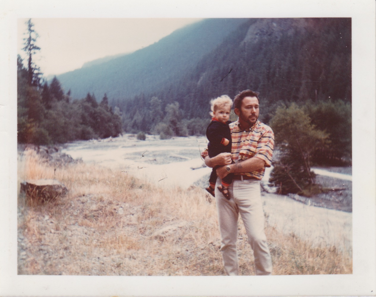 father and his son. Mt. Rainier National Park. 1968