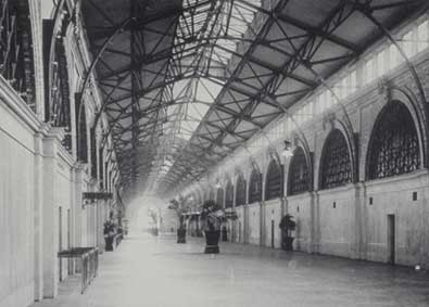 Inside the Ferry Building in the early 20th century