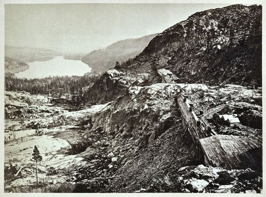 Truckee Lake viewed from Donner Pass, 1868