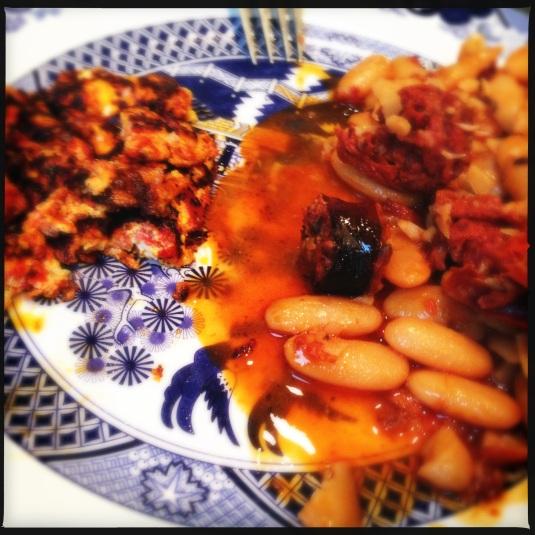 Fabada Asturiana with piquillo manchego tortilla
