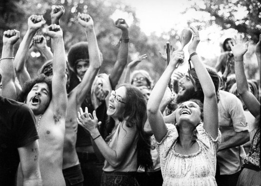 Hippies having fun