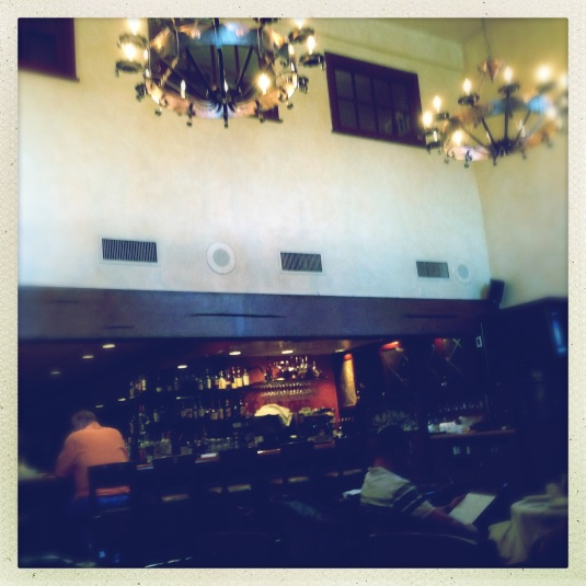 In the Monty's dining room