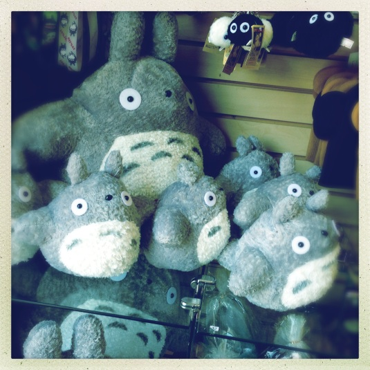 Totoros of every size at the New Tokyo Lifestyle gift shop in Japanese Village Plaza