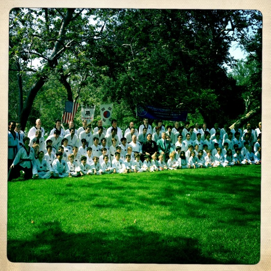 Tae kwon do in the park