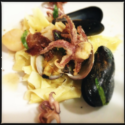 Maltagliata with fruits de mer