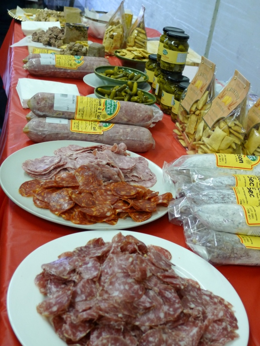 Charcuterie samples