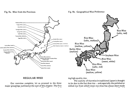 Miso regions, just in case you were curious