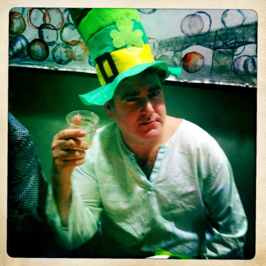 Don Schneider on a St. Patty's Day past