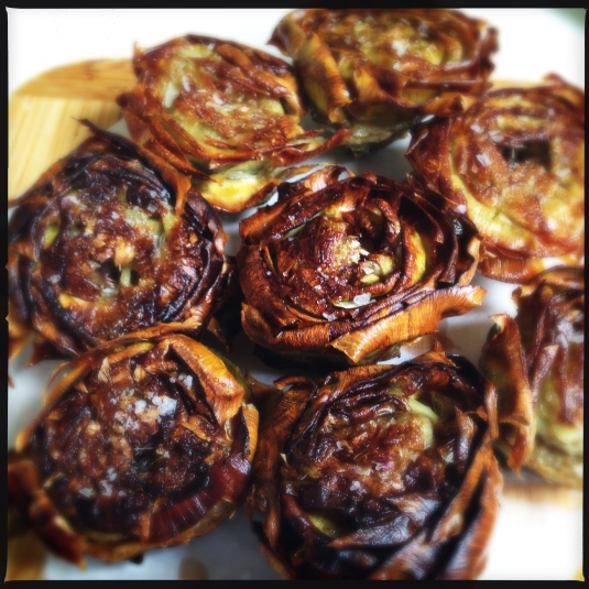 "Carciofi all Giudia — artichokes in the ""Jewish"" style"