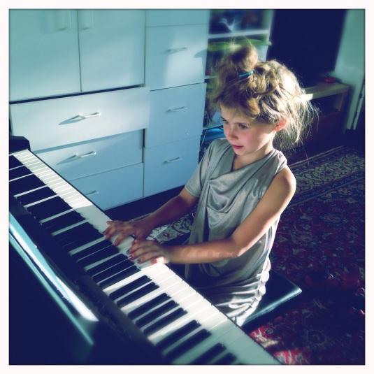 Willa at the keys
