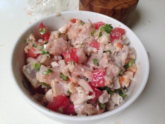 Albacore & shrimp ceviche