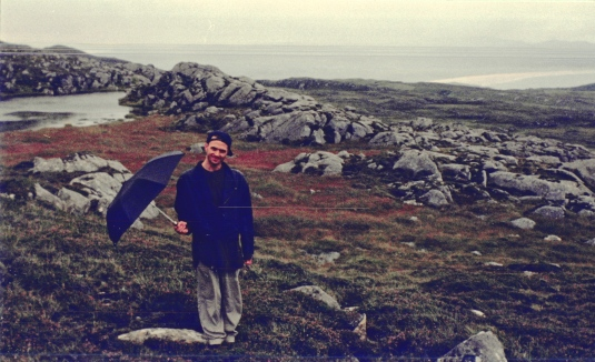 Yer man, out on the turf in Co. Donegal