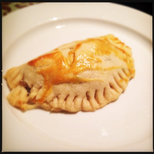Turkey hand pie made with Thanksgiving leftovers