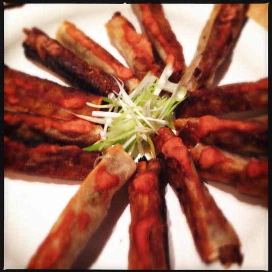 My Szechuan turkey spring rolls