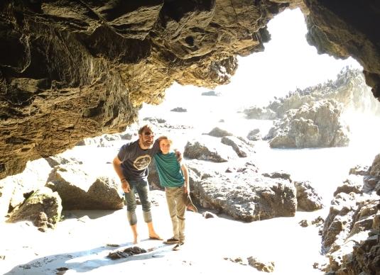 Flynn and I caving
