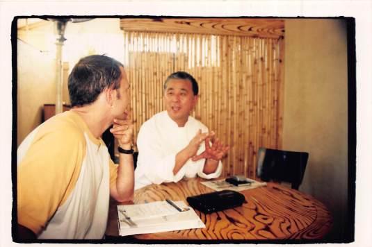 Nobu and me chatting at Matsuhisa circa 2001