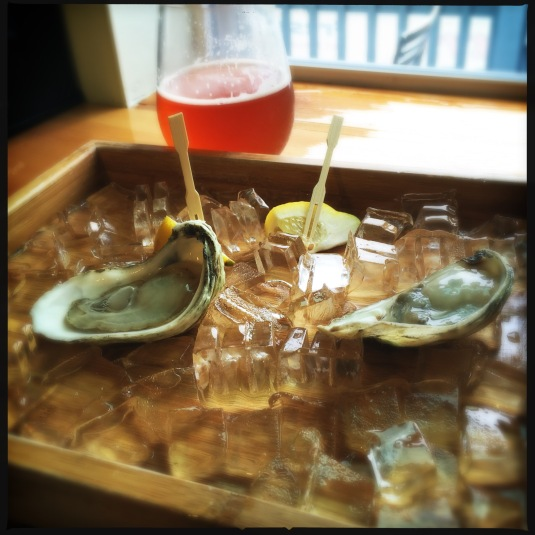 MDI oysters at Peekytoe Provisions