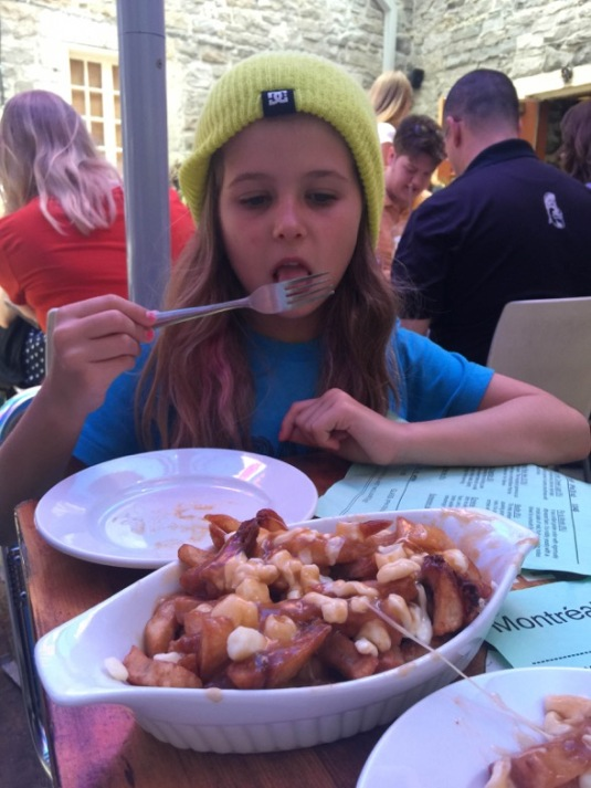 Digging in at Montreal Poutine