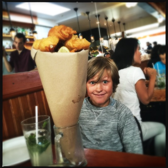 Flynn and his fish & chips