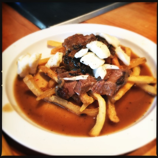 Leftover duck poutine