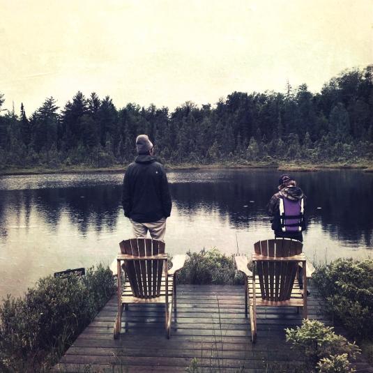 Jon & Flynn at Lucia's Bog, Big Wolf