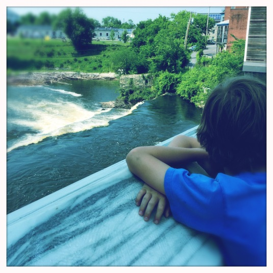 Flynn overlooking Otter Creek