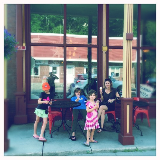 Ice cream at the general store in Bethel