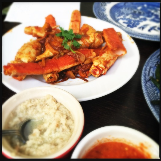 Chili crab & chicken rice sauces