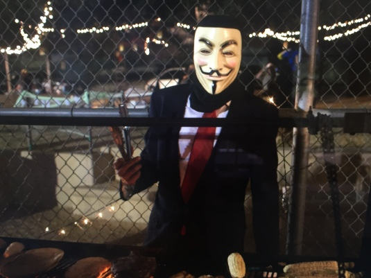 Anonymous at the grill