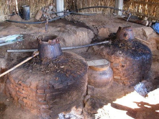 Traditional clay mezcal stills
