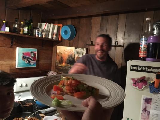 Presenting dinner by Jon