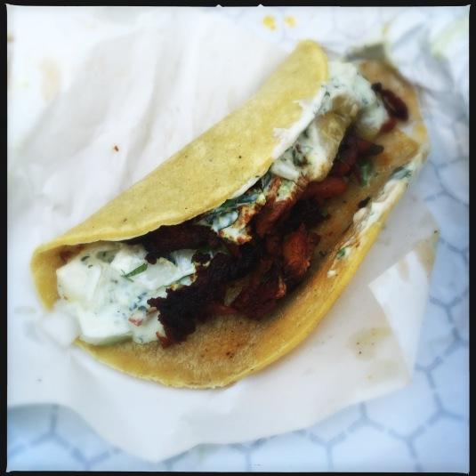 Taco al pastor, The Taco Stand, La Jolla