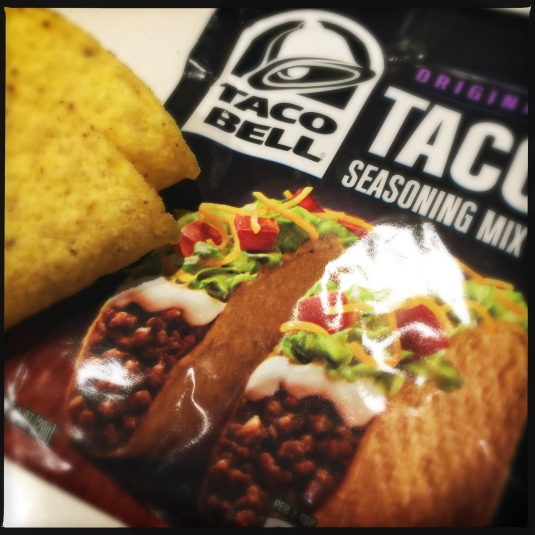 Taco shells and Taco Bell seasoning