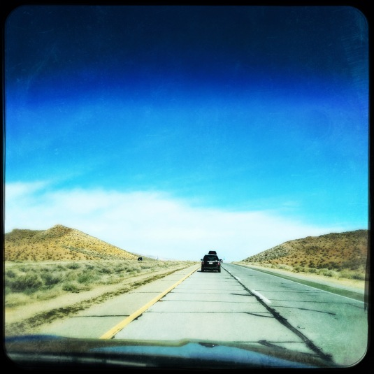 Through the Mojave Desert on the road to Tahoe