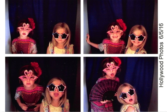Imogen and her pal, Myla, in the photo booth