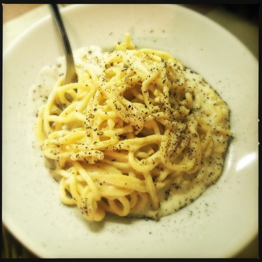 The most Roman dish of them all — cacio e pepi