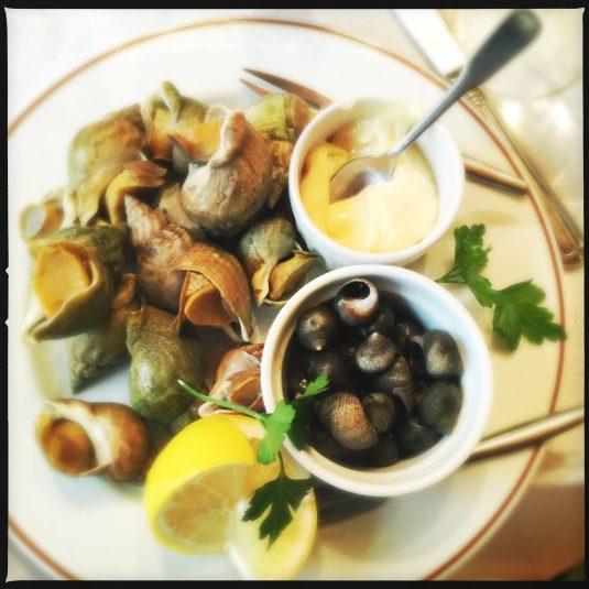 Whelks & periwinkles at Chez Paul