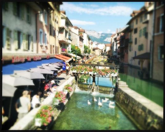 The river in Annecy, Haute-Savoie, France