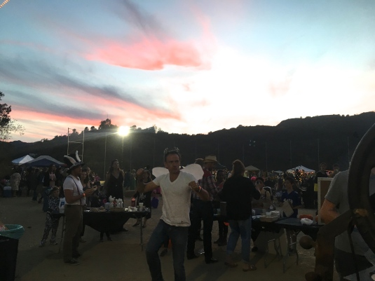 The Chef boogying at sunset