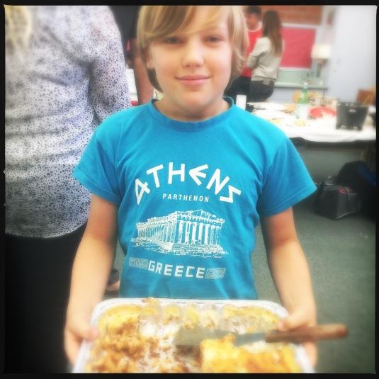 Nate Cambras and his Greek lasagna